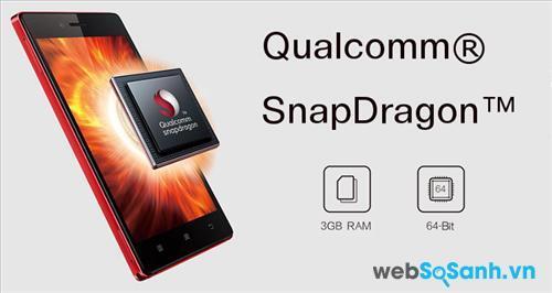 Lenovo Vibe Shot chạy bộ vi xử lý Snapdragon 615 của nhà sản xuất chipset điện thoại danh tiếng Qualcomm