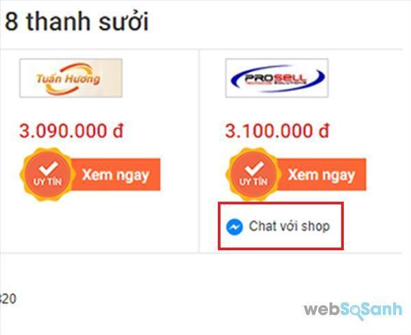 Websosanh so sánh giá top giá rẻ