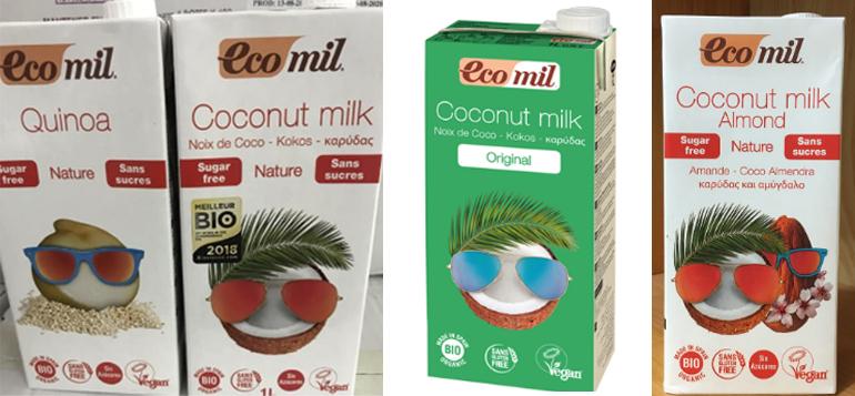 Sữa dừa organic Ecomil - Giá tham khảo: 94.000 vnđ / lít