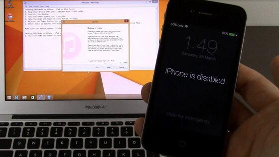 3 cách mở iPhone bị vô hiệu hóa icloud itunes do nhập sai mật khẩu