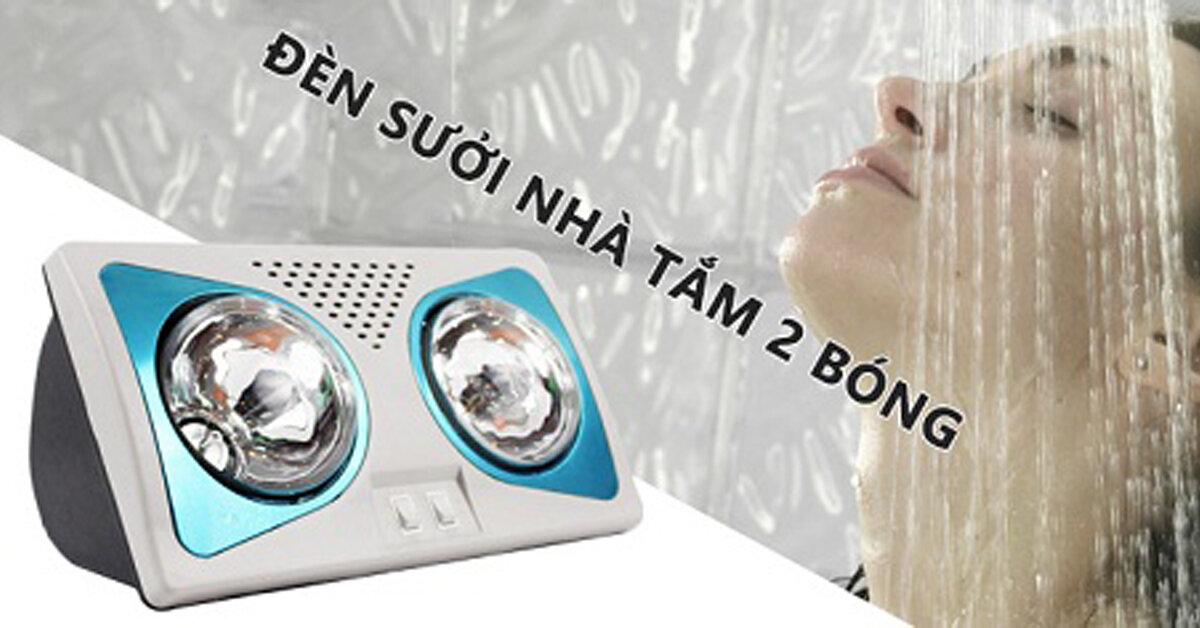 3 loại đèn sưởi nhà tắm 2 bóng được nhiều người tin dùng nhất