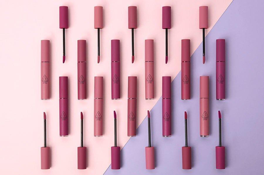 """3 màu son """"tím lịm tim"""" ngọt ngào sang chảnh bổ sung cho dòng son kem Velvet Lip Tint của 3CE lên 13 thỏi son"""