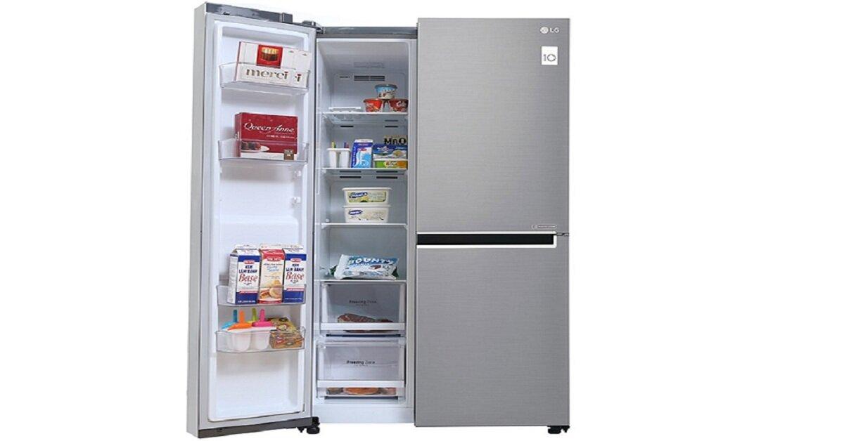 3 mẫu tủ lạnh side by side LG dung tích lớn tốt nhất để mua Tết 2019 này