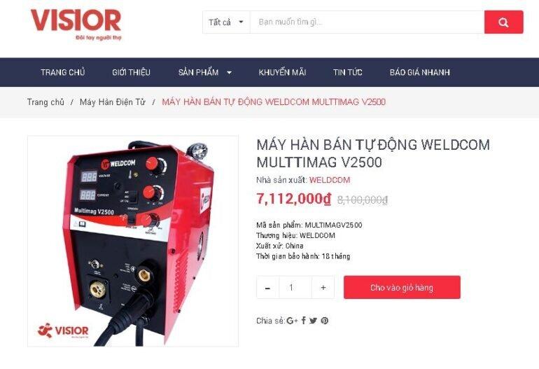 Mua máy hàn bán tự động Weldcom Multimag V2500 ở đâu chất lượng, giá tốt?