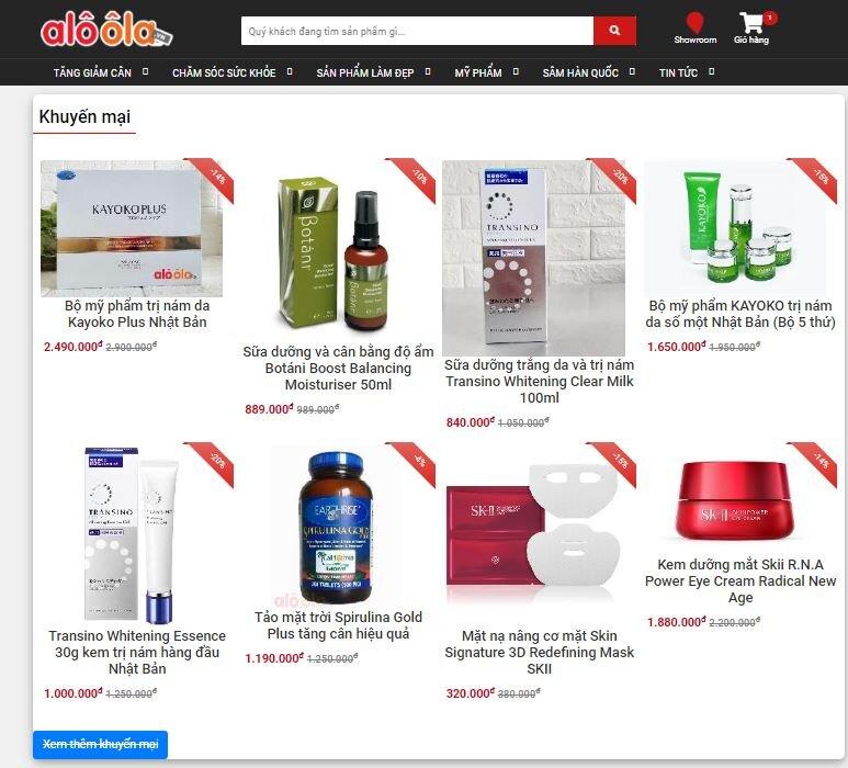 Siêu thị trực tuyến aloola.vn xây dựng thương hiệu bằng chữ Tín