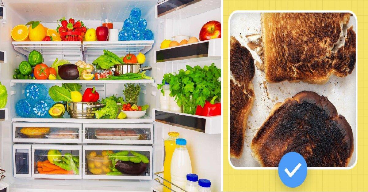Mẹo khử mùi khó chịu trong tủ lạnh đơn giản chỉ với một vài lát bánh mì