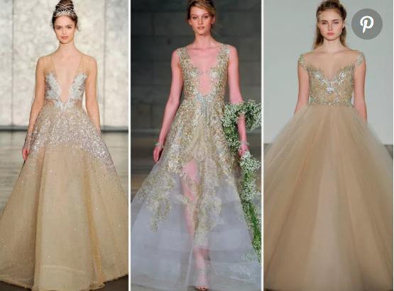 Váy cưới màu vàng