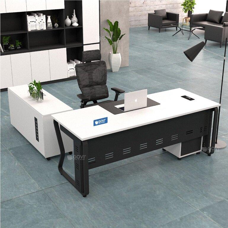 Bàn làm việc văn phòng đẹp hiện đại BLVN15
