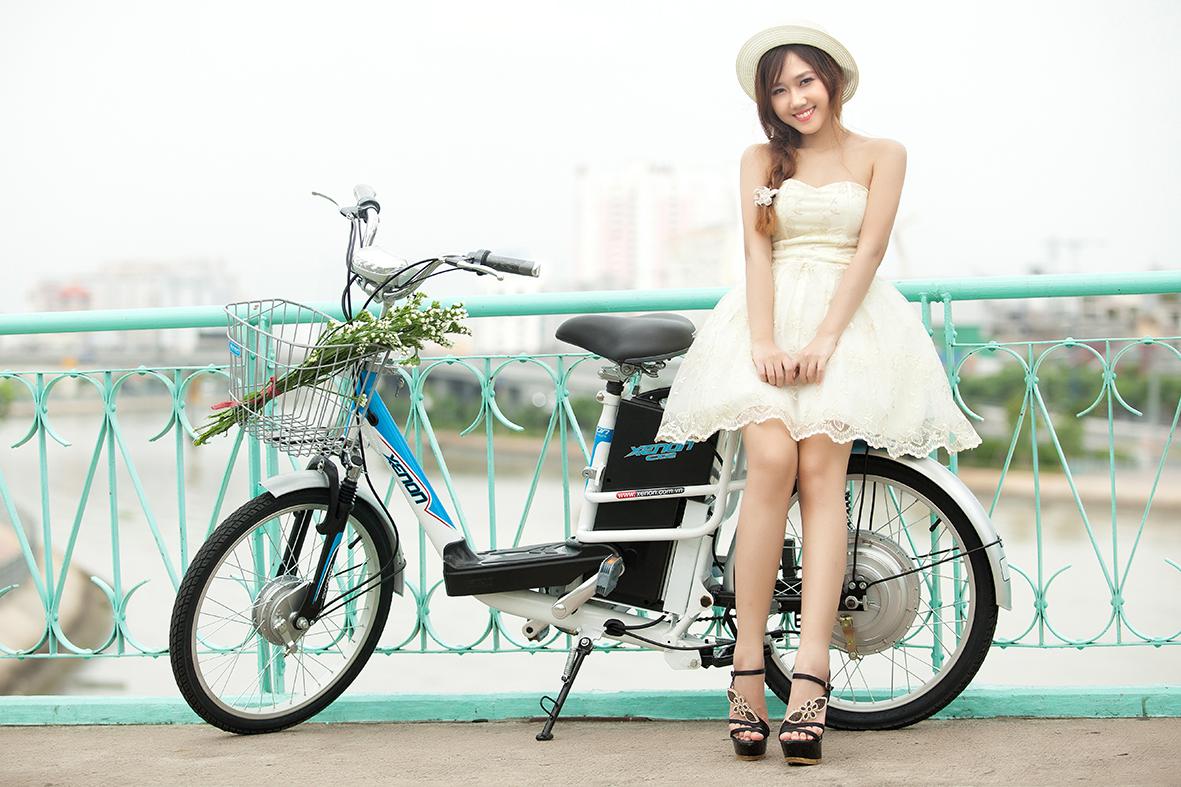Xe đạp điện thương hiệu Nhật có kiểu dáng đẹp