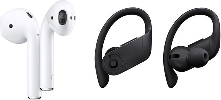 so sánh tai nghe airpods và powerbeats pro