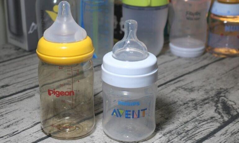 Đánh giá và so sánh bình sữa Pigeon cổ rộng với bình sữa Avent