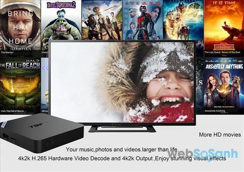Android tivi box cao cấp đem tới cho người dùng trải nghiệm tốt hơn