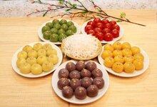 4 bước làm bánh trôi 7 màu đơn giản cho ngày Tết Hàn thực