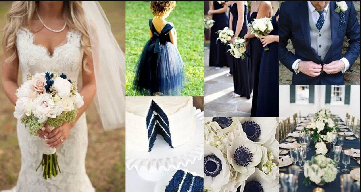 """4 cách kết hợp màu xanh Navy """"hot trend"""" cho mùa cưới 2018"""