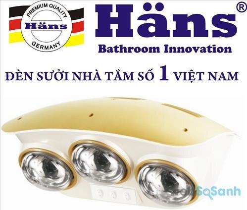 4 điều cần biết về đèn sưởi nhà tắm Hans