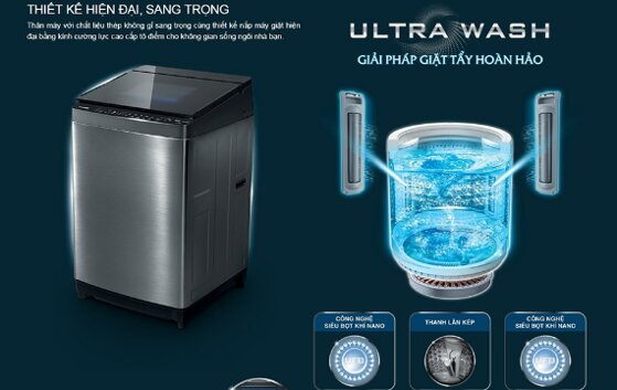 4 máy giặt Toshiba Ultra Wash đa năng tiết kiệm điện nước giá từ 10tr