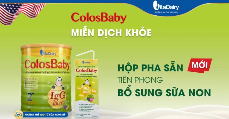 Cách pha sữa Colosbaby đúng cách chống bệnh vặt cho trẻ tăng cường hệ miễn dịch tốt