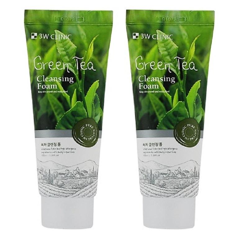 Sữa rửa mặt trà xanh 3W Clinic Green Tea Foam Cleansing