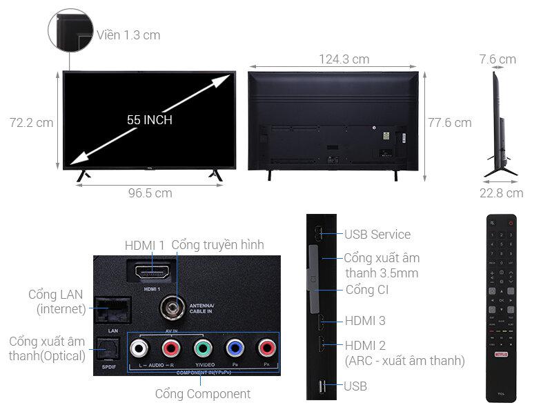 Smart Tivi TCL 55 inch L55S62