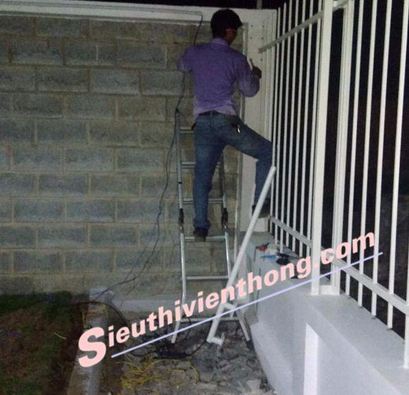 Thi Công Hệ Thống Beam báo trộm theo hàng rào công ty Isuzu Củ Chi