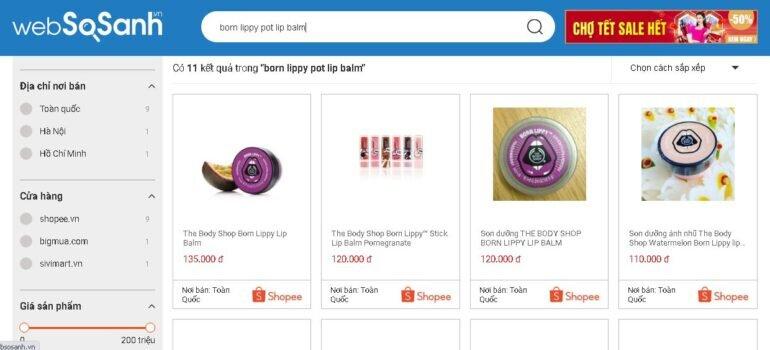 Giá son dưỡng môi trị thâm Born Lippy Pot Lip Balm bao nhiêu tiền?