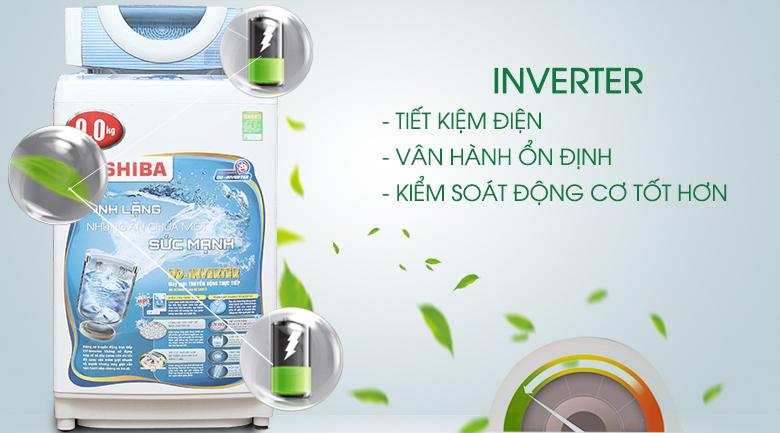 Công nghệ Inverter - Máy giặt Toshiba Inverter 9kg AW-DC1005CV