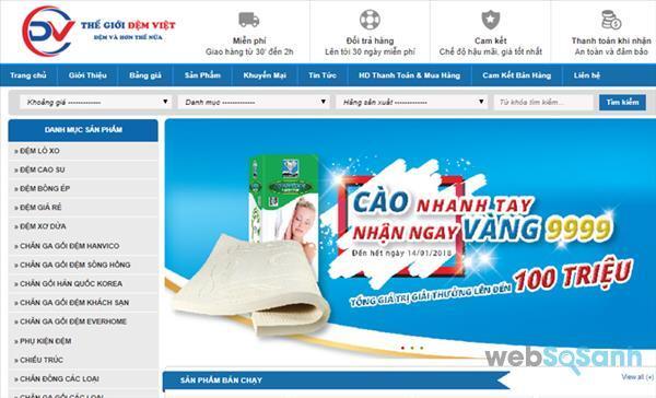 SIÊU GIẢM GIÁ ĐÓN TẾT 2018 với hàng ngàn sản phẩm Chăn Ga Gối Đệm tại Thế Giới Đệm Việt