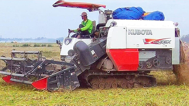 máy gặt kubota