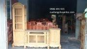 Giá kệ tivi gỗ gụ giá rẻ