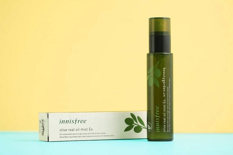 Xịt khoáng Innisfree Olive Real Oil Mist Ex