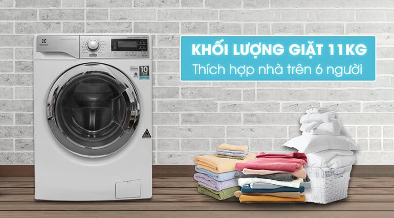 Máy giặt sấy Electrolux inverter 11kg EWW14113