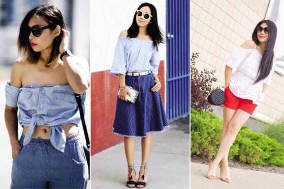 5 cách mix đồ với áo trễ vai đẹp cho bạn gái
