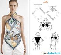5 cách tạo hình đẹp với khăn voan đơn giản khi đi biển