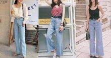 5 mẫu quần jeans ống rộng cực HOT cho bạn gái 2019