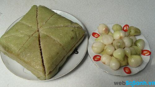 5 phút để có một đĩa bánh chưng ngon và đẹp