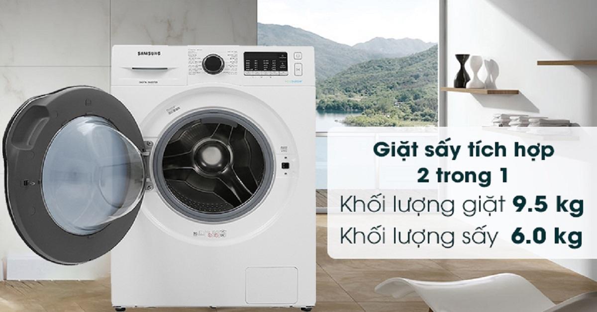 5 tính năng vượt trội của máy giặt 9.5Kg Samsung WD95J5410AW/SV + sấy 6kg giúp giặt giũ nhàn tênh
