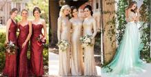 """""""Đổi gió"""" với những thiết kế váy cưới màu sắc từ tuần lễ thời trang"""