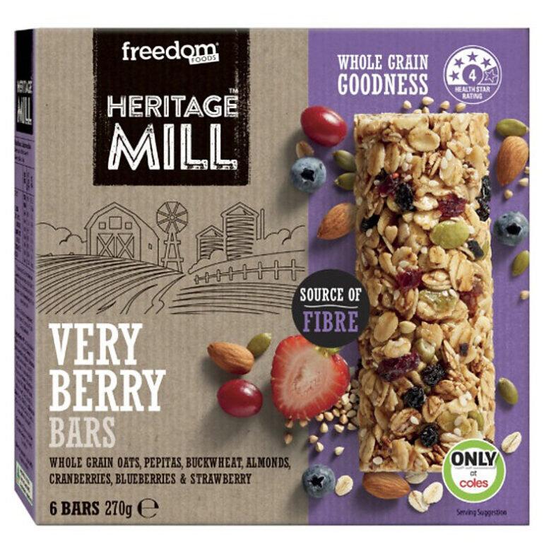Bánh ngũ cốc Heritage Mill Berries - Giá tham khảo: 139.000 vnđ - 144.000 vnđ/ hộp 270g