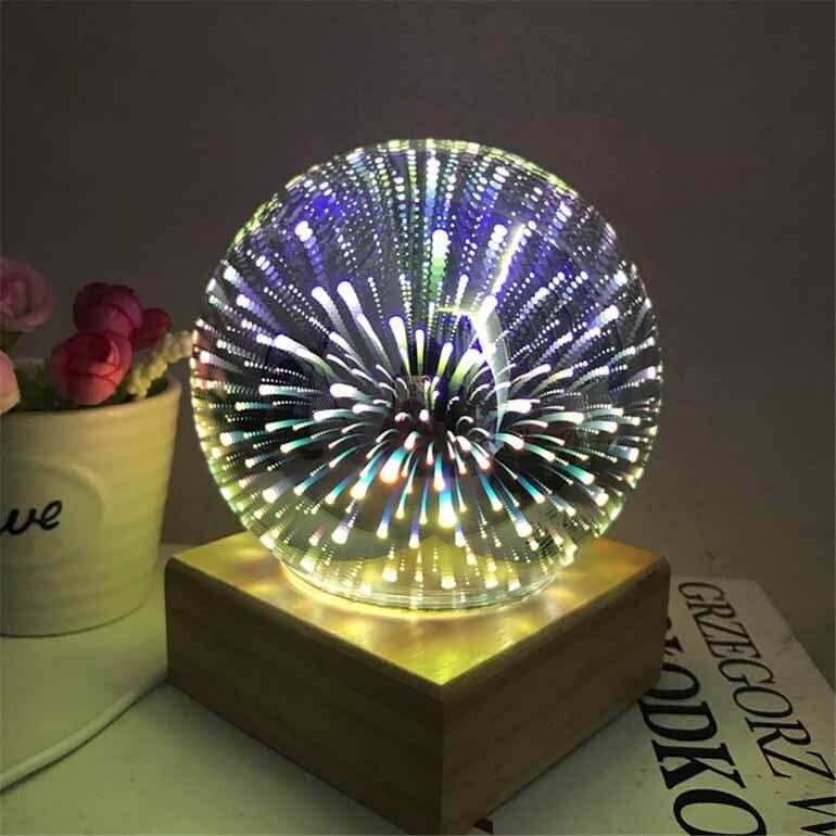Đèn ngủ 3D hình quả cầu
