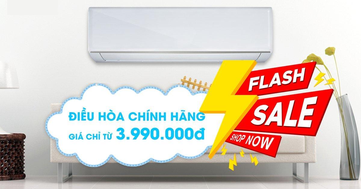 Flash Sale - Điều hòa chính hãng chỉ từ 3,990,000đ