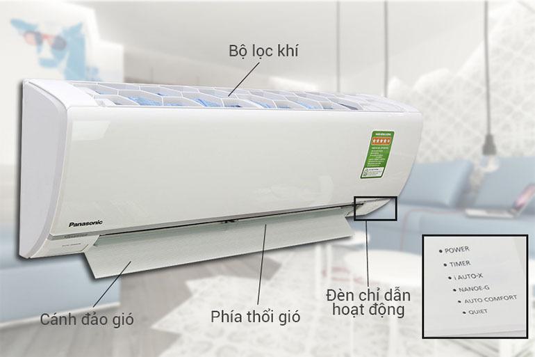Điều hoà Panasonic inverterPU9UKH thiết kế sang trọng, tiện lợi, khả năng vận hành êm ái, độ bền bỉ với thời gian cao