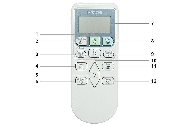 Tổng quan về điều khiển điều hòa Hitachi 1 chiều