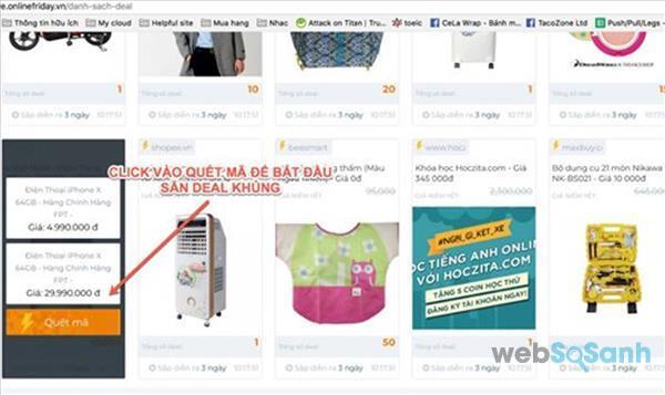 săn deal sốc giá hời online friday 2017 ngày mua sắm trực tuyến 2017