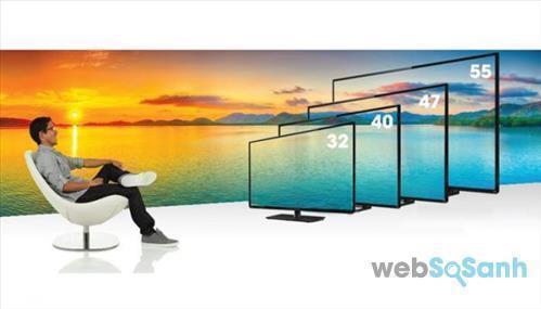 Kích thước Smart tivi Toshiba