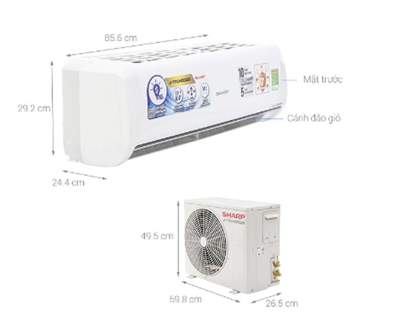 Điều hòa - Máy lạnh Sharp AH-X9UEW - inverter, 1 chiều, 9000btu - Giá rẻ nhất: 5.788.000 vnđ