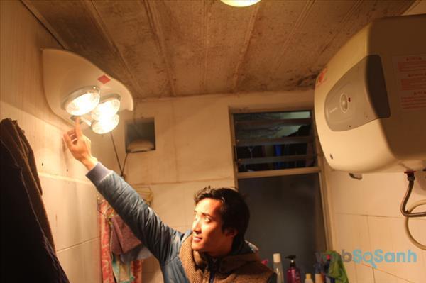 vệ sinh đèn sưởi nhà tắm