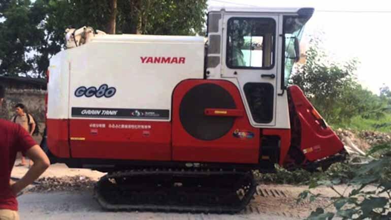máy gặt đập liên hợp yanmar