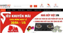 Nhà Bếp Việt – Thương hiệu thiết bị nhà bếp nhập khẩu nức tiếng GIẢM GIÁ SHOCK TỚI HƠN 50% toàn bộ sản phẩm cho khách hàng nhân dịp 30/4 – 1/5