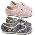 Giày sneaker cho nữ, họa tiết zigzag