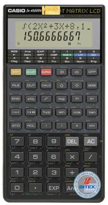 Máy tính khoa học Casio FX-4500PA